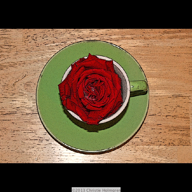 Red<br/>Rose<br/>in Cup